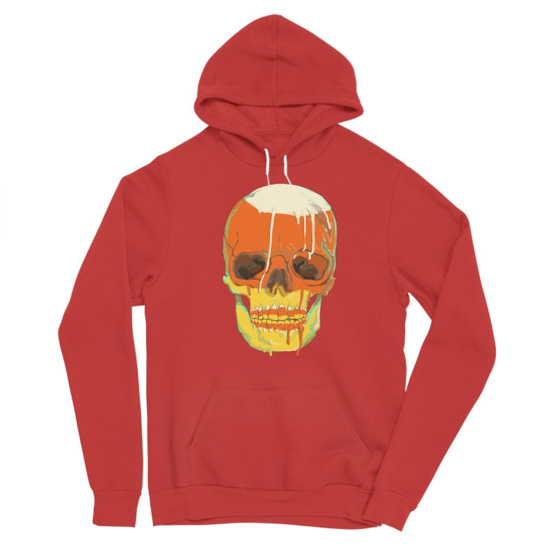 Candy Corn Cranium Women's Pullover Hoody by Erica Fails at Merch