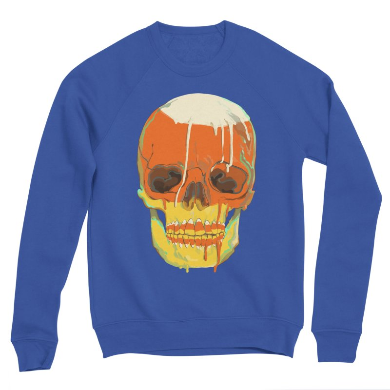 Candy Corn Cranium Men's Sweatshirt by Erica Fails at Merch