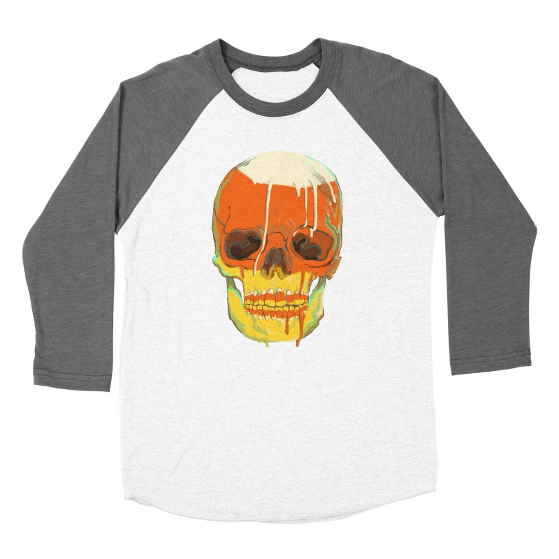 Candy Corn Cranium Women's Longsleeve T-Shirt by Erica Fails at Merch