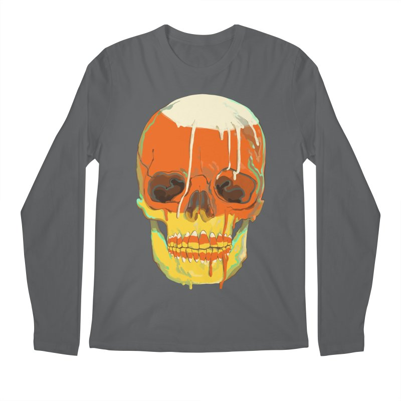 Candy Corn Cranium Men's Longsleeve T-Shirt by Erica Fails at Merch