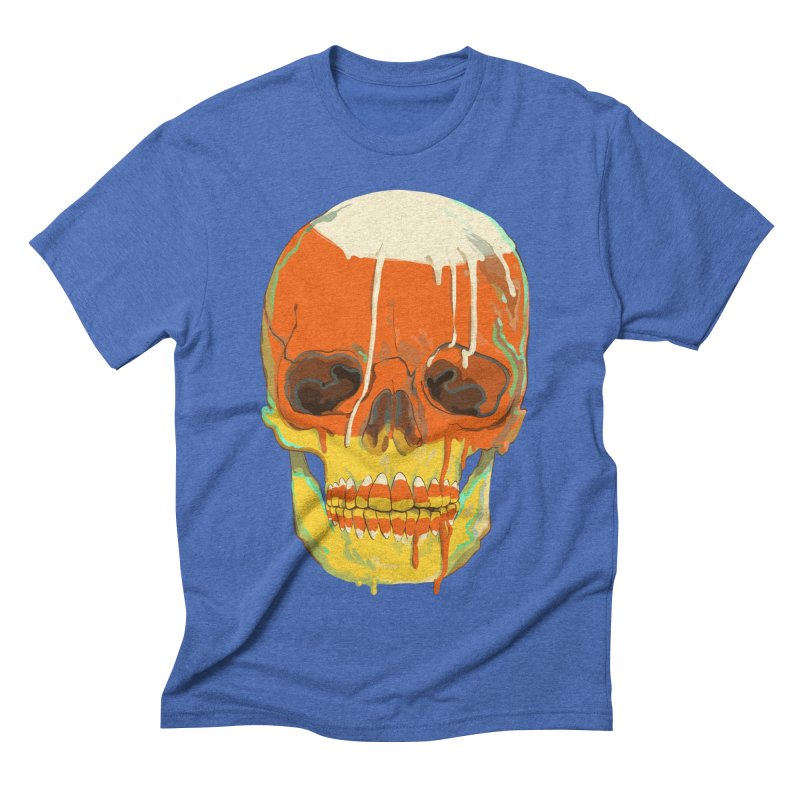 Candy Corn Cranium Men's T-Shirt by Erica Fails at Merch