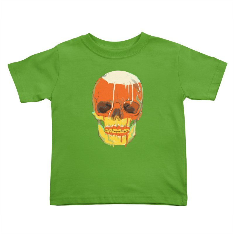 Candy Corn Cranium Kids Toddler T-Shirt by Erica Fails at Merch