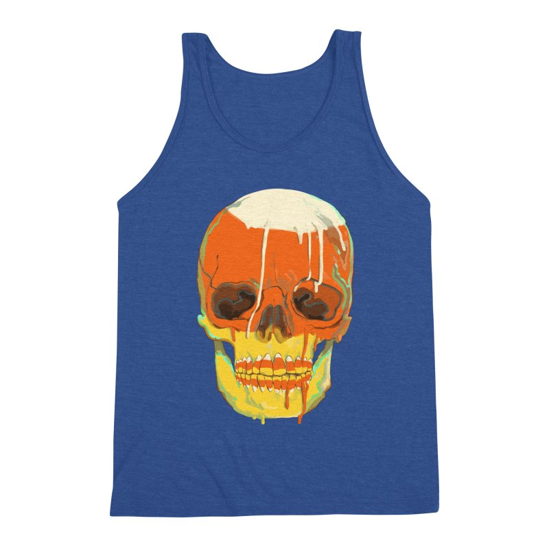 Candy Corn Cranium Men's Tank by Erica Fails at Merch