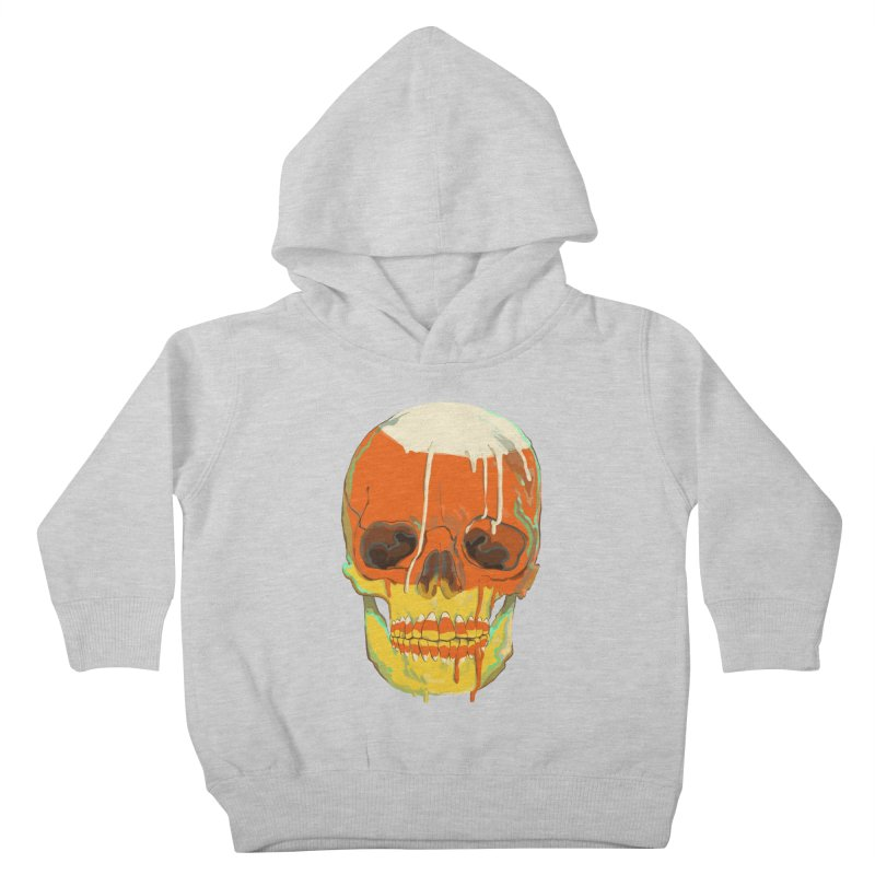 Candy Corn Cranium Kids Toddler Pullover Hoody by Erica Fails at Merch