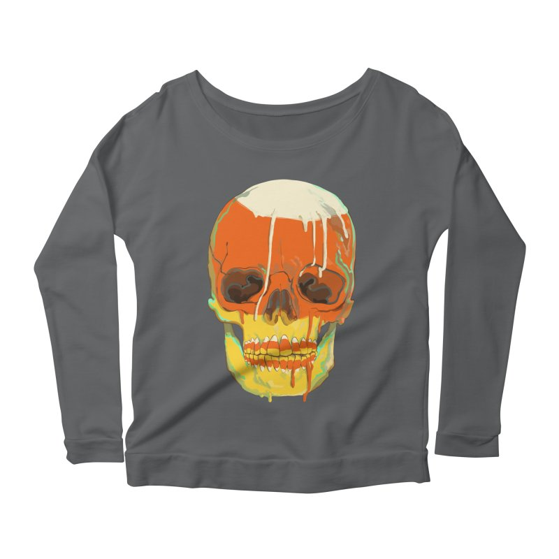 Candy Corn Cranium Women's Longsleeve T-Shirt by Erica Fails at Merch