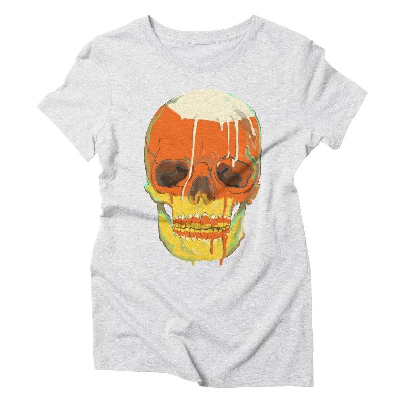 Candy Corn Cranium Women's T-Shirt by Erica Fails at Merch