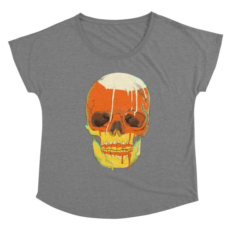 Candy Corn Cranium Women's Scoop Neck by Erica Fails at Merch