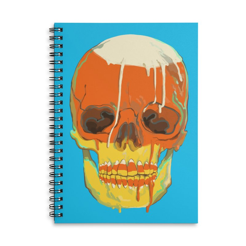 Candy Corn Cranium Accessories Notebook by Erica Fails at Merch