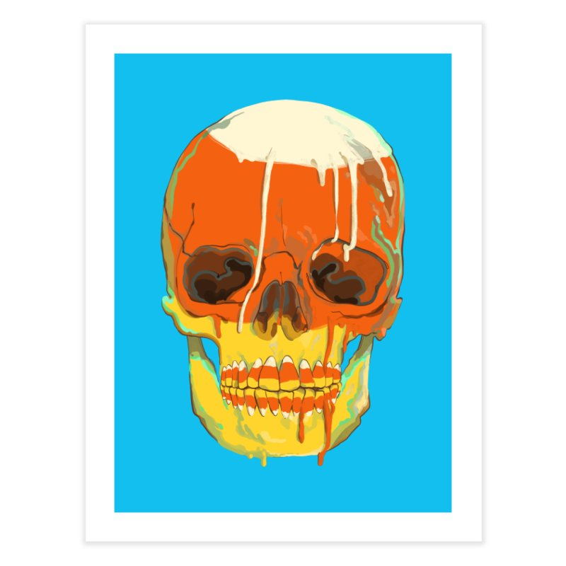 Candy Corn Cranium Home Fine Art Print by Erica Fails at Merch