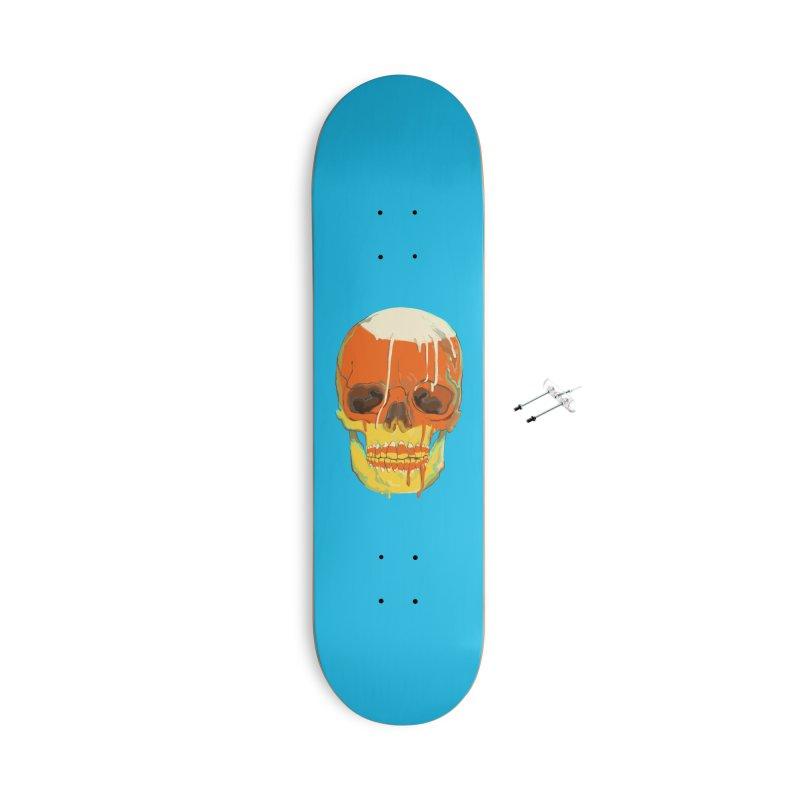 Candy Corn Cranium Accessories Skateboard by Erica Fails at Merch