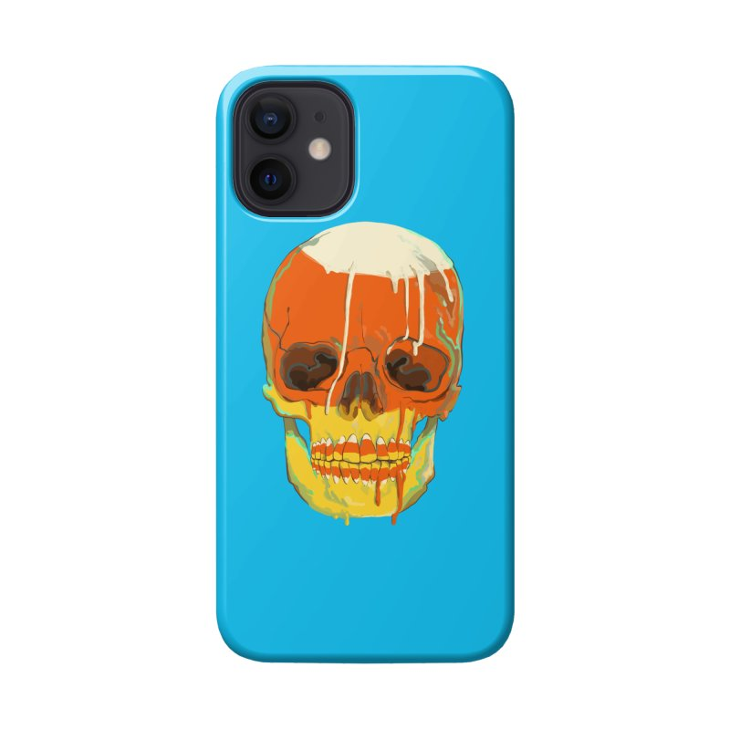 Candy Corn Cranium Accessories Phone Case by Erica Fails at Merch