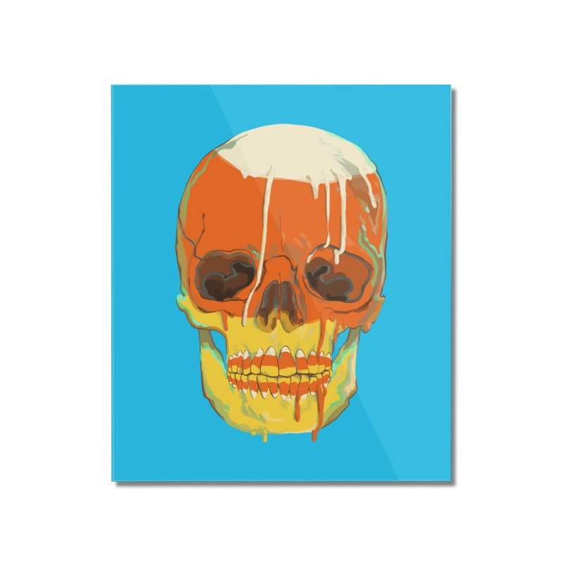 Candy Corn Cranium Home Mounted Acrylic Print by Erica Fails at Merch