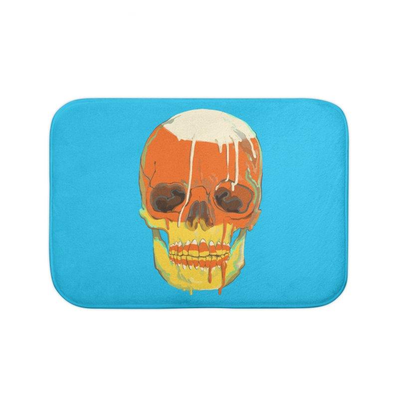 Candy Corn Cranium Home Bath Mat by Erica Fails at Merch