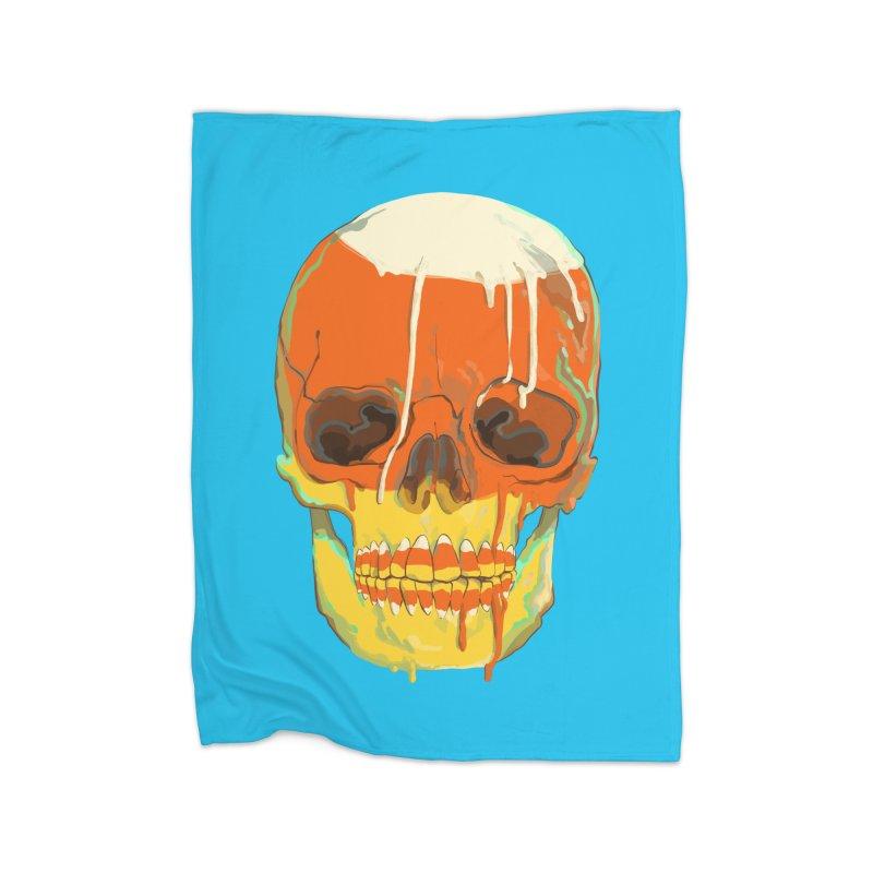 Candy Corn Cranium Home Blanket by Erica Fails at Merch