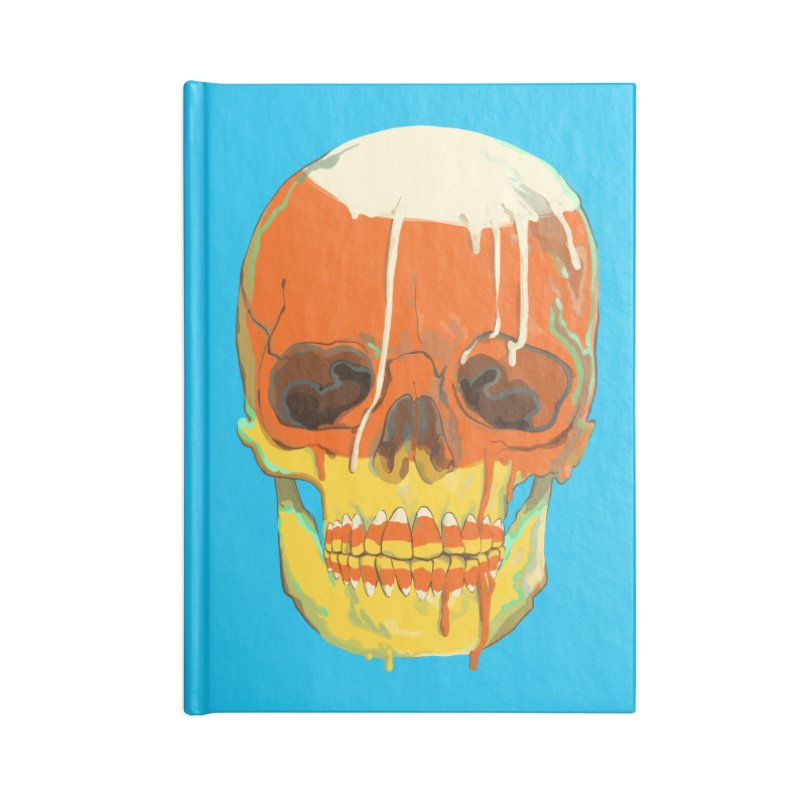 Candy Corn Cranium Accessories Notebook by Erica Fails at Merch