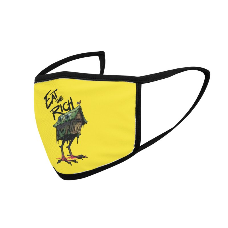 EAT THE RICH Accessories Face Mask by Erica Fails at Merch