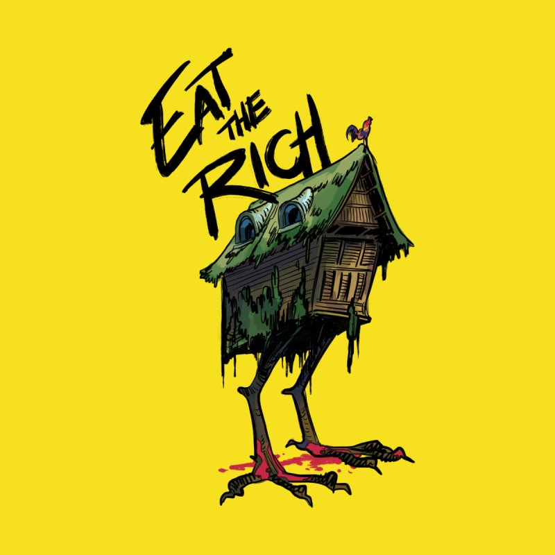 EAT THE RICH Home Shower Curtain by Erica Fails at Merch