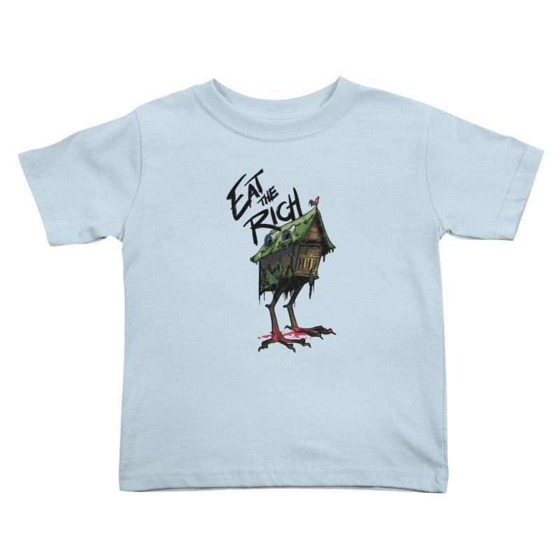 EAT THE RICH Kids Toddler T-Shirt by Erica Fails at Merch