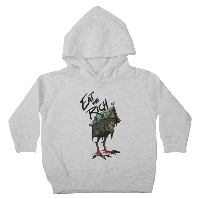 EAT THE RICH Kids Toddler Pullover Hoody by Erica Fails at Merch