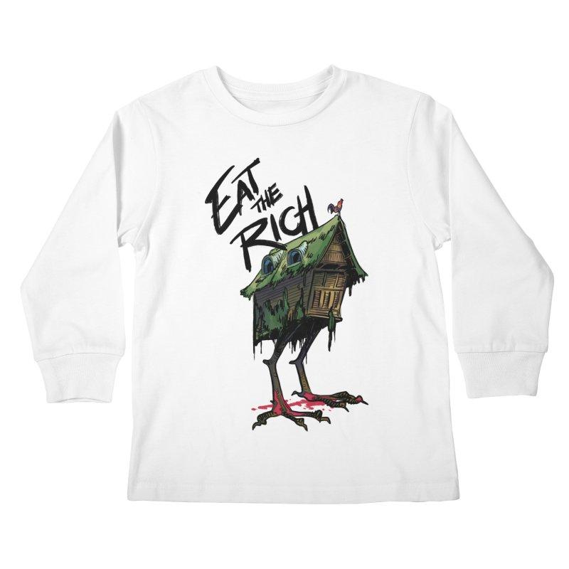 EAT THE RICH Kids Longsleeve T-Shirt by Erica Fails at Merch