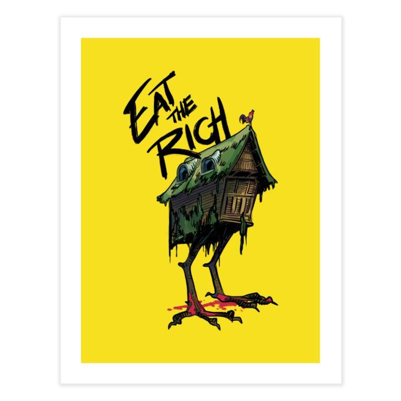 EAT THE RICH Home Fine Art Print by Erica Fails at Merch