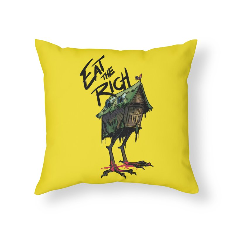 EAT THE RICH Home Throw Pillow by Erica Fails at Merch