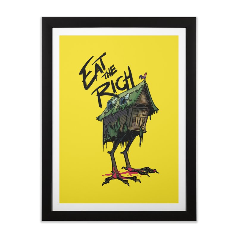 EAT THE RICH Home Framed Fine Art Print by Erica Fails at Merch