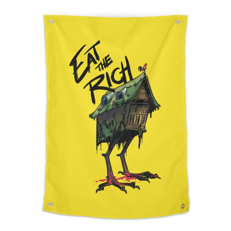 EAT THE RICH Home Tapestry by Erica Fails at Merch