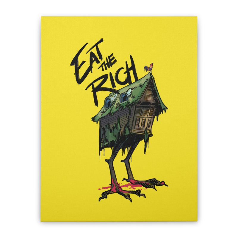 EAT THE RICH Home Stretched Canvas by Erica Fails at Merch