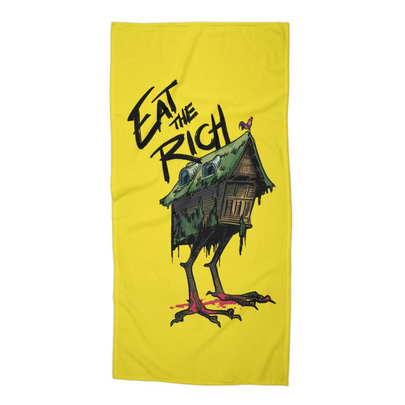 EAT THE RICH Accessories Beach Towel by Erica Fails at Merch