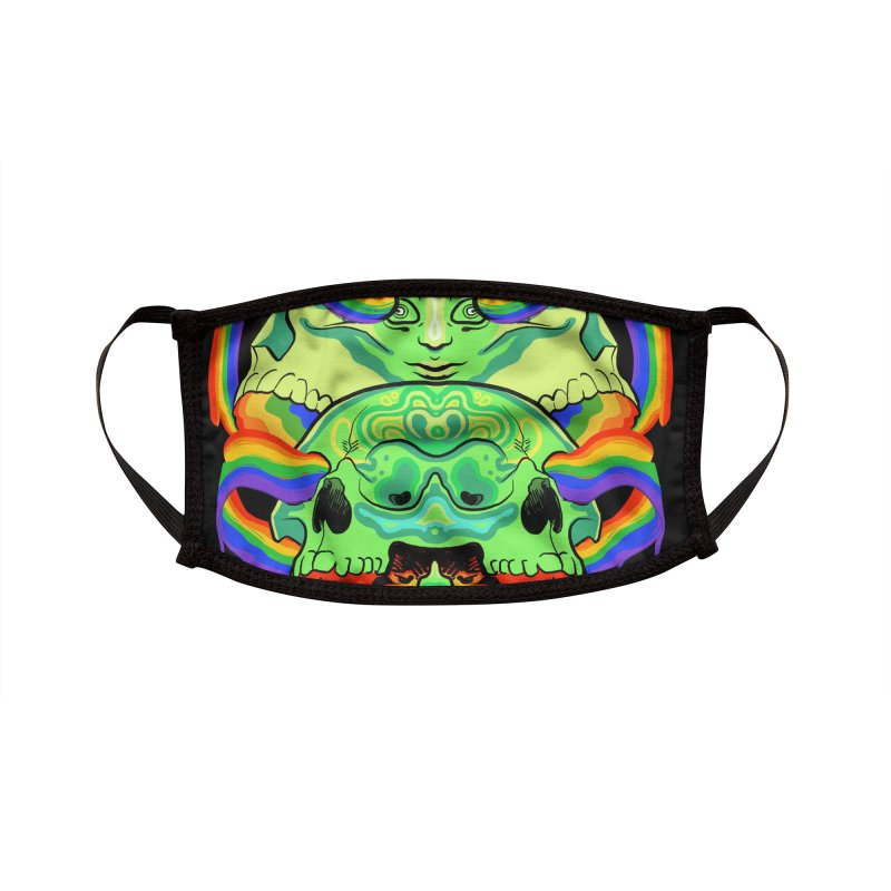 BARF SKULL Accessories Face Mask by Erica Fails at Merch