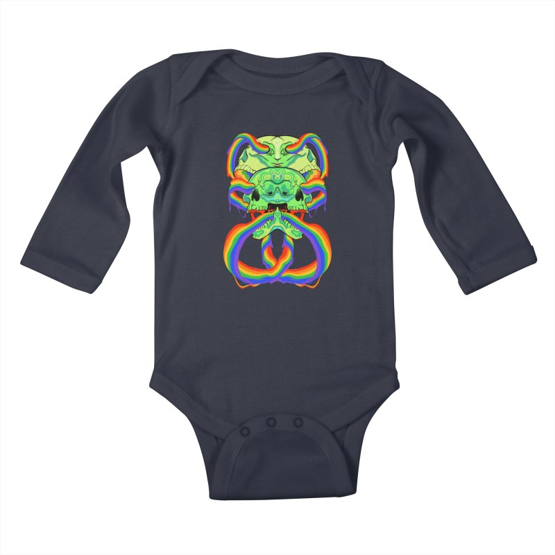 BARF SKULL Kids Baby Longsleeve Bodysuit by Erica Fails at Merch