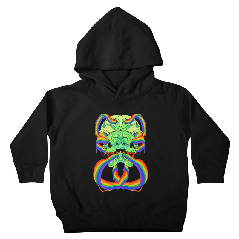 BARF SKULL Kids Toddler Pullover Hoody by Erica Fails at Merch