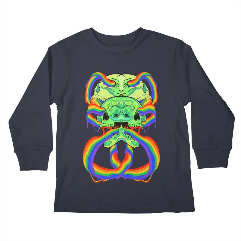 BARF SKULL Kids Longsleeve T-Shirt by Erica Fails at Merch