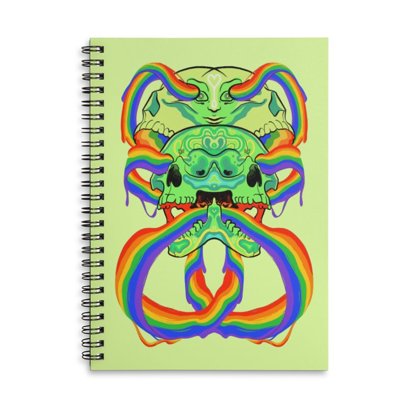 BARF SKULL Accessories Notebook by Erica Fails at Merch