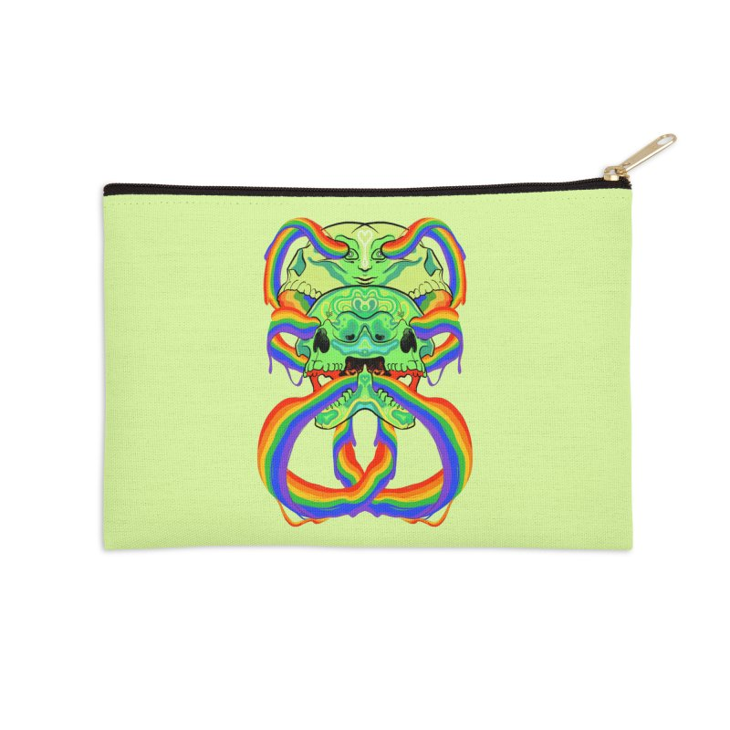 BARF SKULL Accessories Zip Pouch by Erica Fails at Merch
