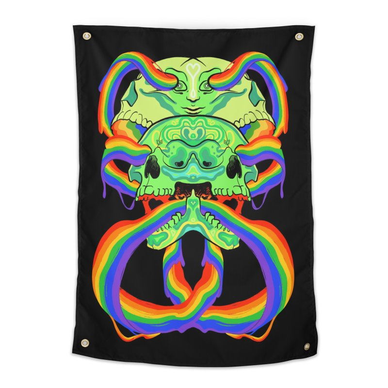 BARF SKULL Home Tapestry by Erica Fails at Merch