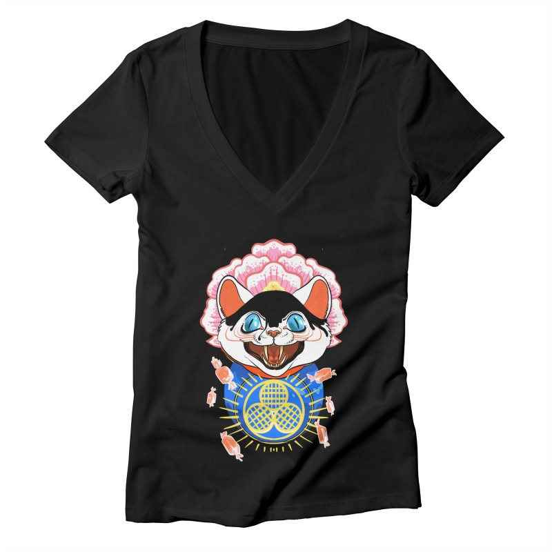 Botan Rice Candy Women's V-Neck by Erica Fails at Merch