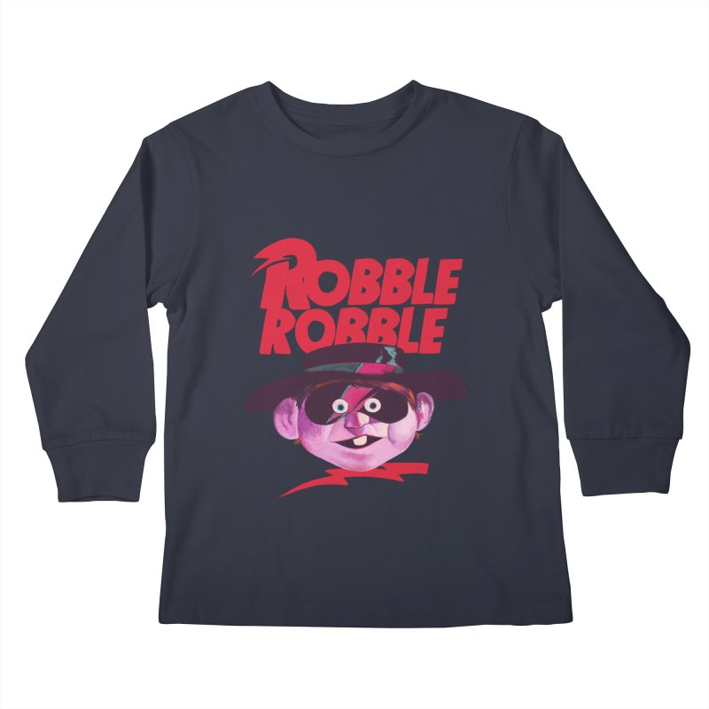 Robble Robble Kids Longsleeve T-Shirt by Erica Fails at Merch
