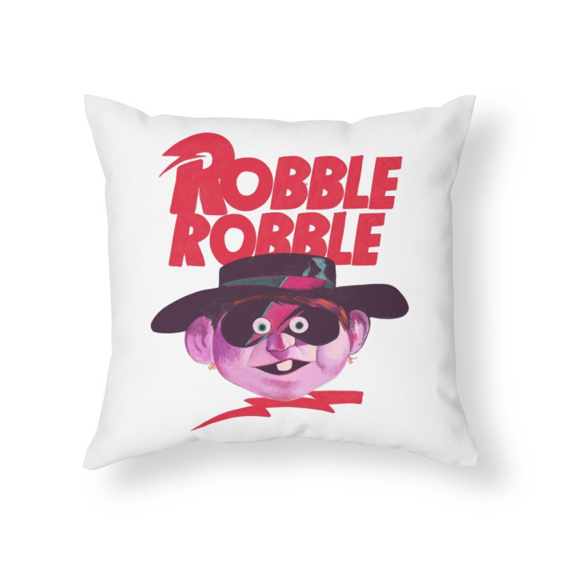 Robble Robble Home Throw Pillow by Erica Fails at Merch