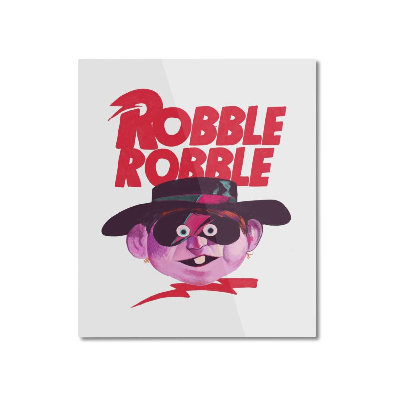 Robble Robble Home Mounted Aluminum Print by Erica Fails at Merch