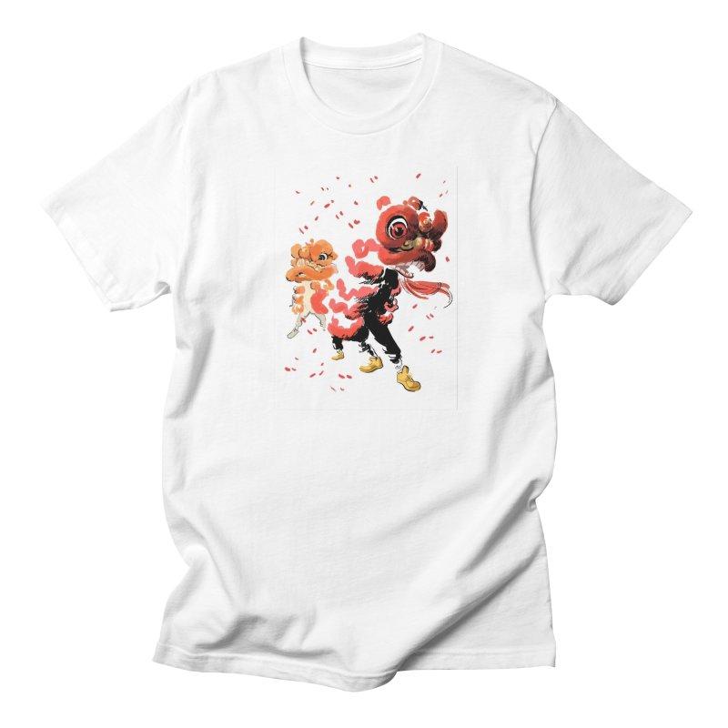 Lion Dance Men's T-Shirt by Erica Fails at Merch