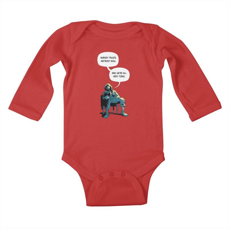 Nobody Trusts Anybody Now Kids Baby Longsleeve Bodysuit by Erica Fails at Merch