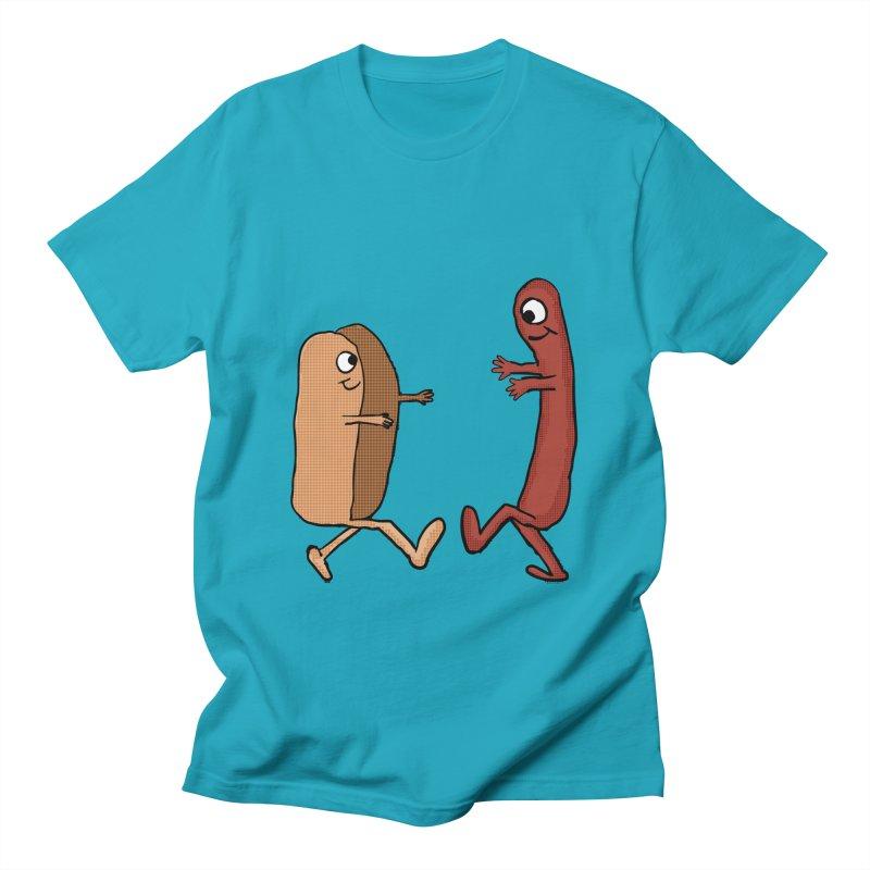 Wiener and Hot Dog Bun Couple Men's T-shirt by ericallen's Artist Shop