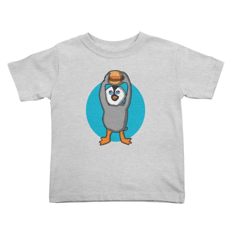 Baby Penguin and Hamburger   by ericallen's Artist Shop