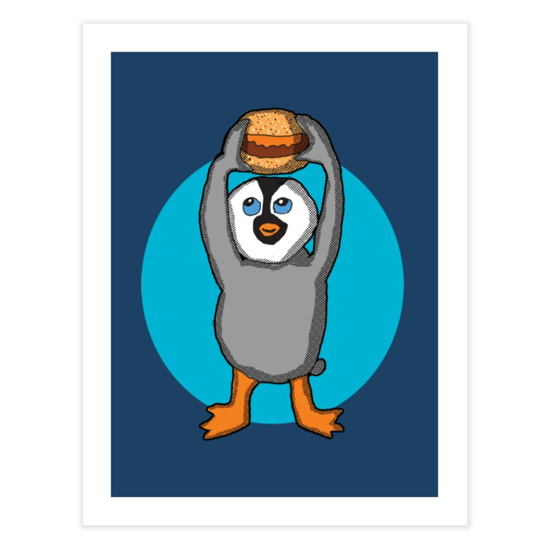 Baby Penguin and Hamburger   by ericallen's Artist Shop