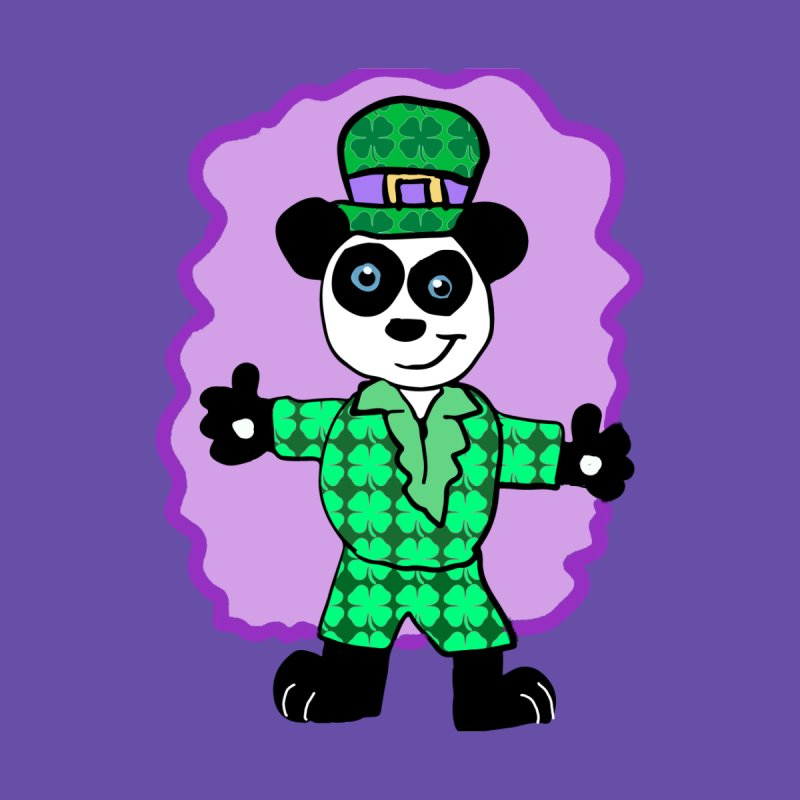 Irish Panda  Women's Fitted T-Shirt by ericallen's Artist Shop