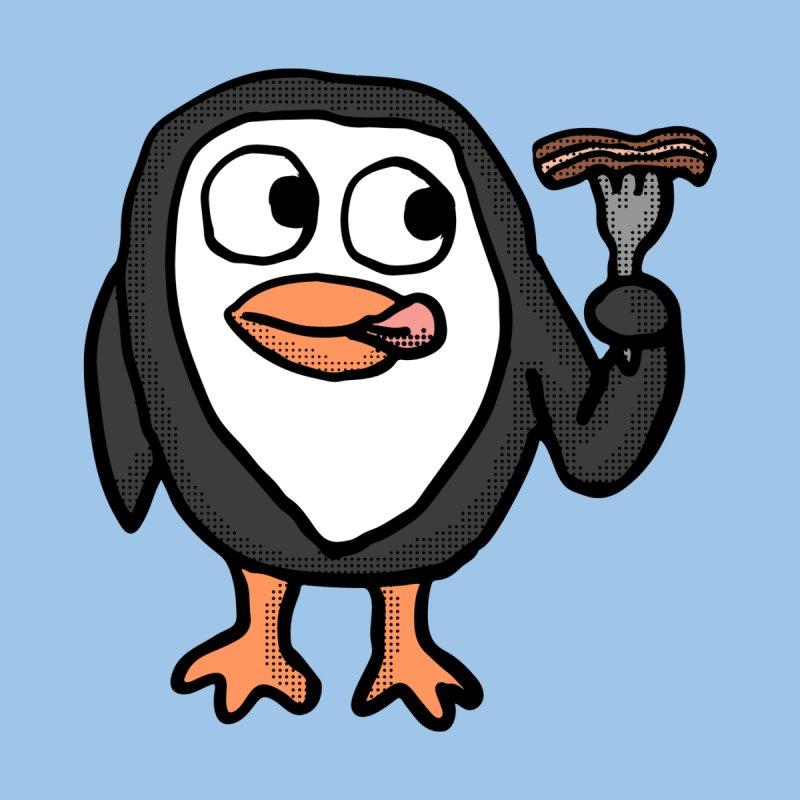 Bacon Lovin Penguin  Men's T-Shirt by ericallen's Artist Shop