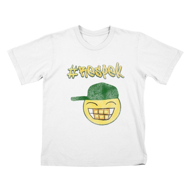 Vintage #Respek Smiley Kids T-Shirt by ericallen's Artist Shop