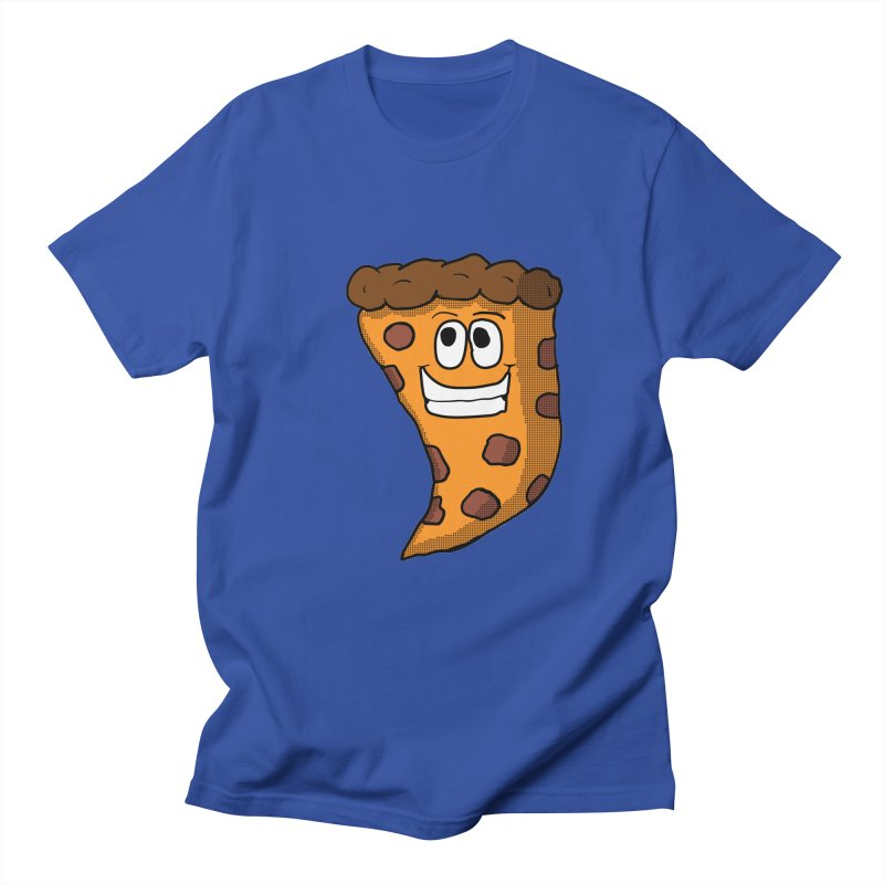 Pizza Character Men's T-shirt by ericallen's Artist Shop